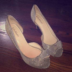 Kelly & Katie Heels - Gold and Silver Sparkles